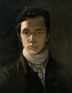 Jaggersque: William Hazlitt's Self-Portrait (1802) is the first in the series and reminds one of the early 60's rock and rollers, with its pouting expression and sense of purpose
